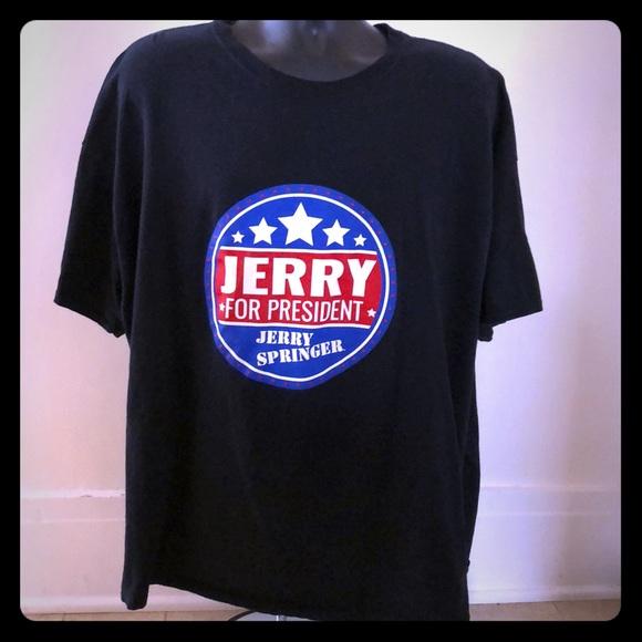 buy online d4387 d8650 Jerry Springer for President T-Shirt 3XL